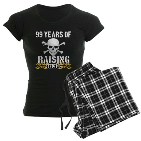 99 years of raising hell Women's Dark Pajamas