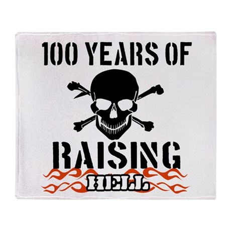 100 years of raising hell Throw Blanket