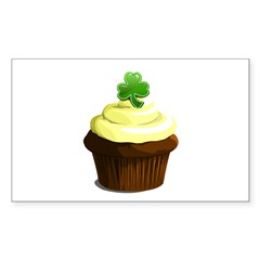 St. Patrick's day cupcake Decal