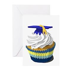 Graduation cupcake Greeting Cards (Pk of 10)