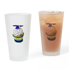 Graduation cupcake Drinking Glass