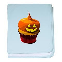 Halloween cupcake baby blanket