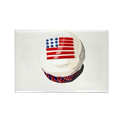 4th of July cupcake Rectangle Magnet (100 pack)