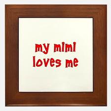 My Mimi Loves Me! (Red) Framed Tile