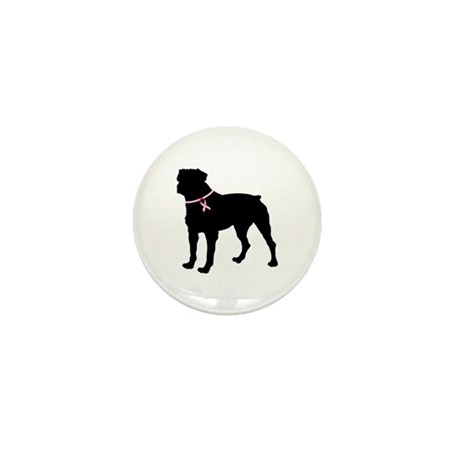 Rottweiler Breast Cancer Support Mini Button