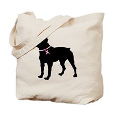 Rottweiler Breast Cancer Support Tote Bag