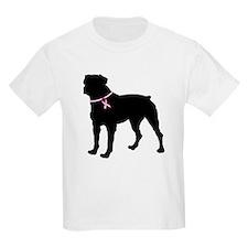 Rottweiler Breast Cancer Support T-Shirt