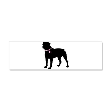 Rottweiler Breast Cancer Support Car Magnet 10 x 3