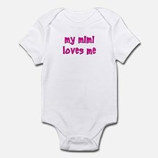My Mimi Loves Me! (Pink) Infant Creeper