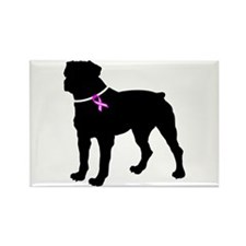 Rottweiler Breast Cancer Supp Rectangle Magnet