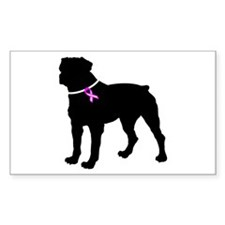Rottweiler Breast Cancer Supp Decal