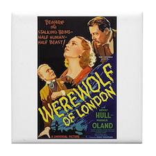 Werewolf of London Tile Coaster