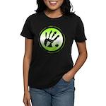 CON-TACT Hand Logo Women's Dark T-Shirt