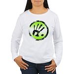 CON-TACT Hand Logo Women's Long Sleeve T-Shirt