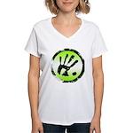 CON-TACT Hand Logo Women's V-Neck T-Shirt