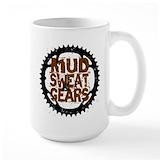 Mountain biking Large Mugs (15 oz)