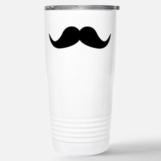 Beard Mustache Stainless Steel Travel Mug
