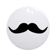 Beard Mustache Ornament (Round)
