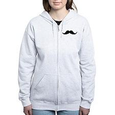 Beard Mustache Zip Hoodie