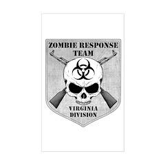 Zombie Response Team: Virginia Division Decal
