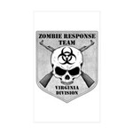 Zombie Response Team: Virginia Division Sticker (R