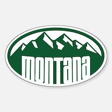 Montana Mountains Sticker (Oval)
