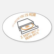 Cute Computing Sticker (Oval)