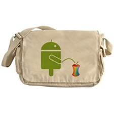 Cute Droid Messenger Bag