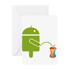 Funny Androids Greeting Card