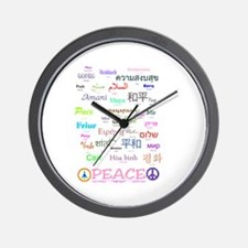 Peace In 35 Languages Gifts Wall Clock