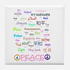 Peace In 35 Languages Gifts Tile Coaster