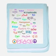 Peace In 35 Languages Gifts baby blanket