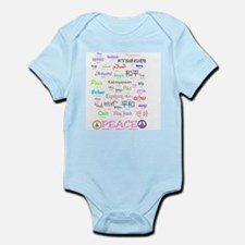 Peace In 35 Languages Gifts Onesie