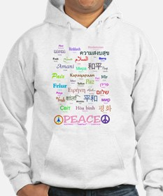 Peace In 35 Languages Gifts Hoodie