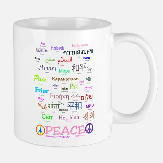 Peace In 35 Languages Gifts Mug