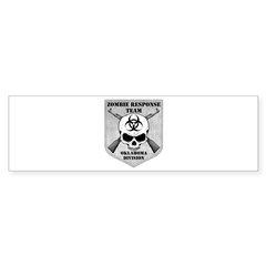 Zombie Response Team: Oklahoma Division Bumper Sticker