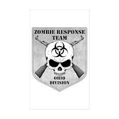Zombie Response Team: Ohio Division Sticker (Recta