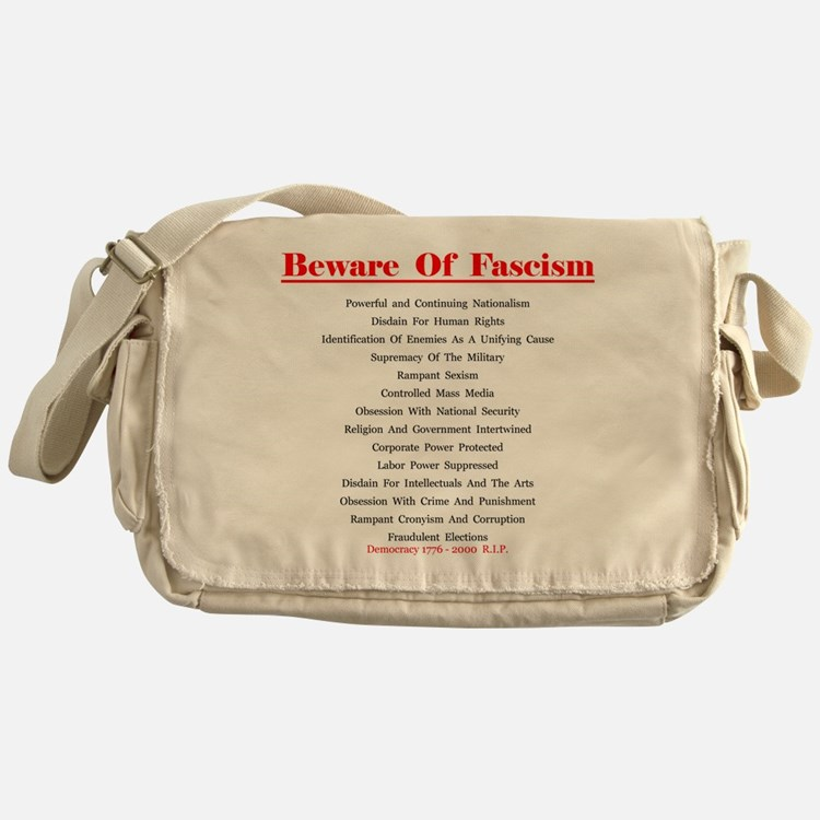 Beware of Fascism Gifts Messenger Bag