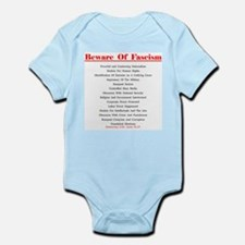 Beware of Fascism Gifts Infant Bodysuit