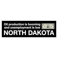 North Dakota Drilling Oil Bumper Sticker