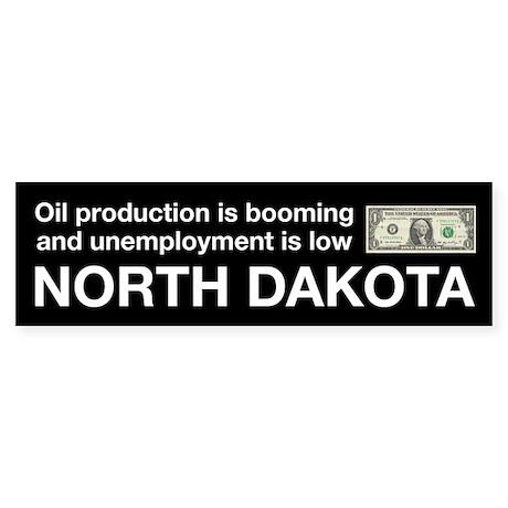 North Dakota Drilling Oil Sticker (Bumper)