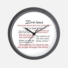 Ziva-isms Wall Clock