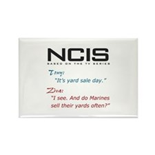 NCIS Ziva Garage Sale Quote Rectangle Magnet