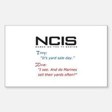 NCIS Ziva Garage Sale Quote Sticker (Rectangle)