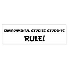ENVIRONMENTAL STUDIES STUDENT Bumper Bumper Sticker