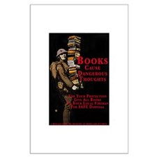 Books Cause Thoughts Large Poster