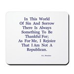 Sin And Sorrow Gifts Mousepad