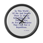 Sin And Sorrow Gifts Large Wall Clock