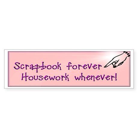 Scrapbook Forever Bumper Sticker