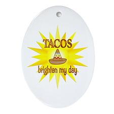 Tacos Brighten Ornament (Oval)